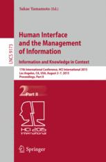 Human Interface and the Management of Information. Information and Knowledge in Context
