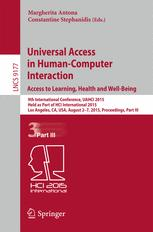 Universal Access in Human-Computer Interaction. Access to Learning, Health and Well-Being