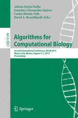 Algorithms for Computational Biology