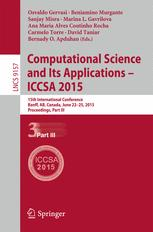 Computational Science and Its Applications -- ICCSA 2015