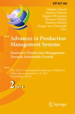 Advances in Production Management Systems: Innovative Production Management Towards Sustainable Growth