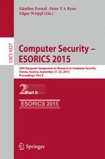 Computer Security -- ESORICS 2015