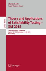 Theory and Applications of Satisfiability Testing -- SAT 2015
