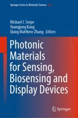 Photonic Materials for Sensing, Biosensing and Display Devices