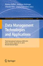 Data Management Technologies and Applications