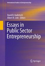 Essays in Public Sector Entrepreneurship