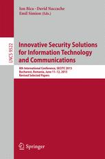 Innovative Security Solutions for Information Technology and Communications