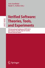 Verified Software: Theories, Tools, and Experiments
