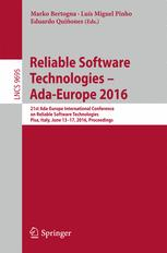 Reliable Software Technologies – Ada-Europe 2016