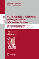 HCI in Business, Government, and Organizations: Information Systems