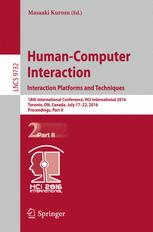 Human-Computer Interaction. Interaction Platforms and Techniques