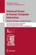 Universal Access in Human-Computer Interaction. Methods, Techniques, and Best Practices