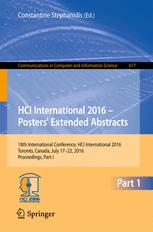 HCI International 2016 – Posters' Extended Abstracts