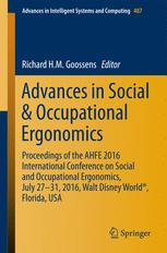 Advances in Social & Occupational Ergonomics