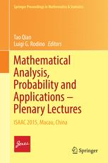 Mathematical Analysis, Probability and Applications – Plenary Lectures