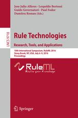 Rule Technologies. Research, Tools, and Applications