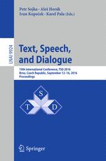 Text, Speech, and Dialogue
