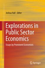 Explorations in Public Sector Economics