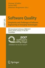 Software Quality. Complexity and Challenges of Software Engineering in Emerging Technologies