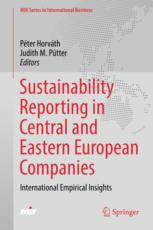 Sustainability Reporting in Central and Eastern European Companies