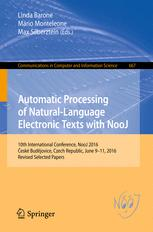Automatic Processing of Natural-Language Electronic Texts with NooJ