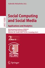 Social Computing and Social Media. Applications and Analytics