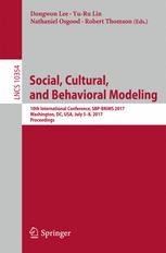 Social, Cultural, and Behavioral Modeling