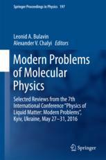 Modern Problems of Molecular Physics
