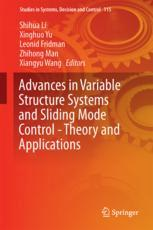 Advances in Variable Structure Systems and Sliding Mode Control—Theory and Applications