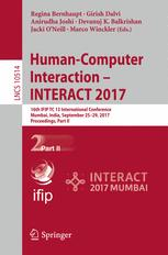 Human-Computer Interaction - INTERACT 2017