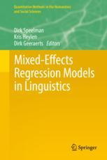 Mixed-Effects Regression Models in Linguistics