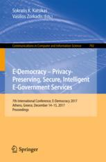E-Democracy – Privacy-Preserving, Secure, Intelligent E-Government Services