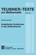 Analytische Funktionen in der Zahlentheorie