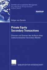 Private Equity Secondary Transactions