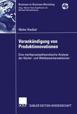 Vorankündigung von Produktinnovationen