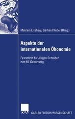 Aspekte der internationalen Ökonomie / Aspects of International Economics