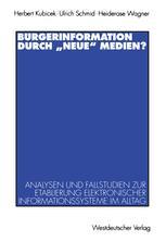 """Bürgerinformation durch """"neue"""" Medien?"""