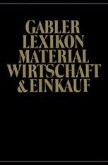Gabler Lexikon Material Wirtschaft & Einkauf