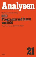 SED — Programm und Statut von 1976