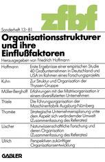 Organisationsstrukturen und ihre Einflußfaktoren