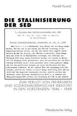 Die Stalinisierung der SED