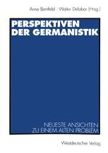 Perspektiven der Germanistik