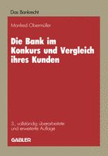 Die Bank im Konkurs und Vergleich ihres Kunden