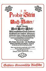 Probir-Stein der Buch-Halter
