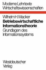 Betriebswirtschaftliche Informationstheorie