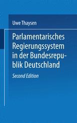Parlamentarisches Regierungssystem in der Bundesrepublik Deutschland