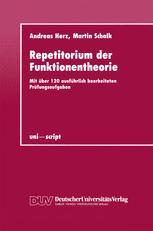 Repetitorium der Funktionentheorie