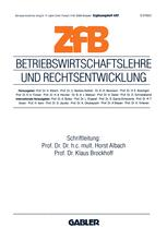 Betriebswirtschaftslehre und Rechtsentwicklung