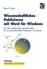 Wissenschaftliches Publizieren mit Word für Windows