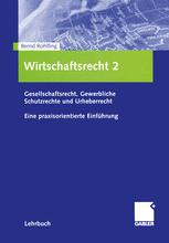 Wirtschaftsrecht 2